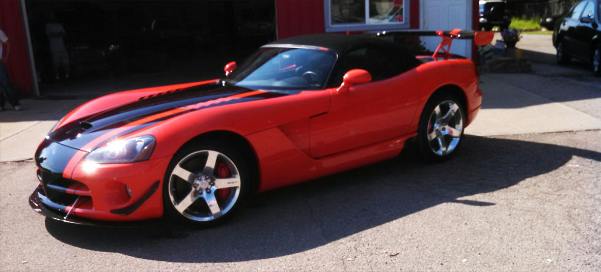 Red and Black Corvette
