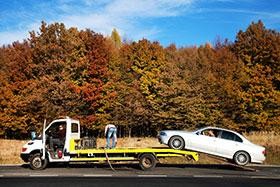 Ramping Car onto Tow Trailer