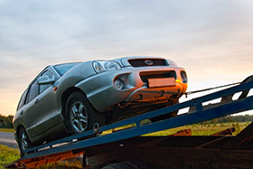 Towing Silver Vehicle
