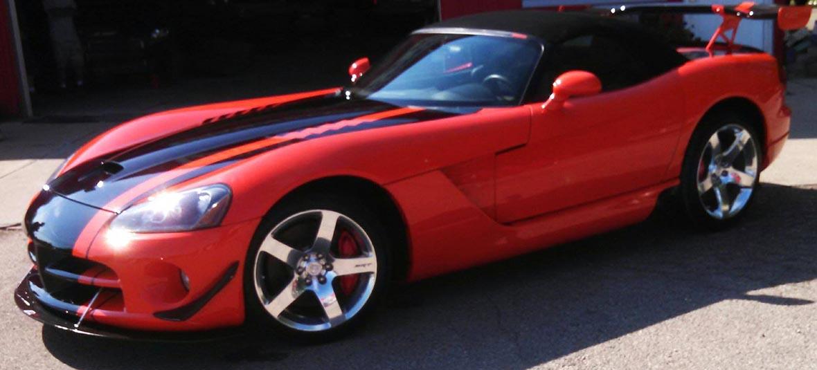 Red and Black Corvette